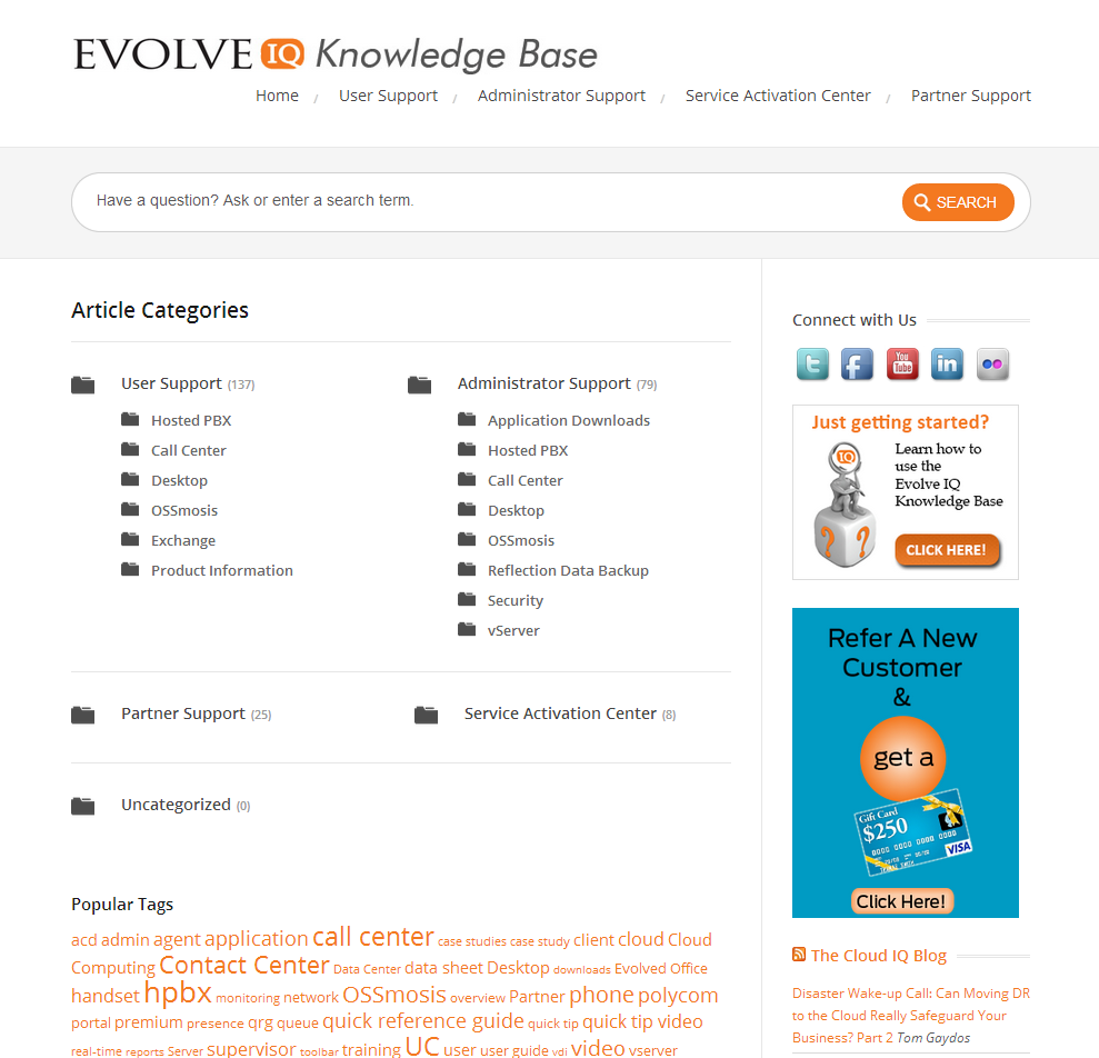 Evolve IQ Knowledge Base
