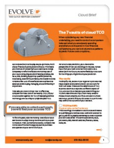 7 Vaults of Cloud TCO Data Sheet - Cover