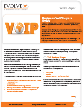 Business VoIP Buyers Guide Download - Evolve IP