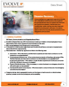 Disaster Recovery Checklist-Cover