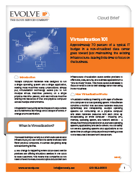 Virtualization 101 Cloud Brief - Cover
