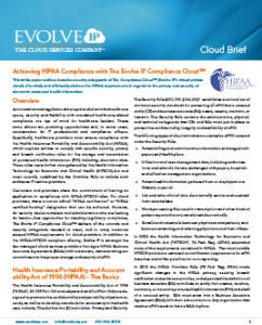 HIPPA Compliance Evolve IP