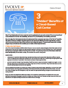 3 Hidden Benefit of a Cloud-Based Call Center