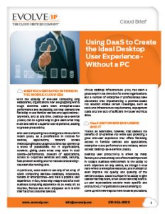 DaaS Ideal User Experience Cover
