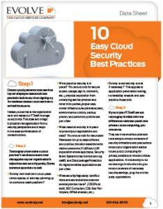 10 Easy Cloud Security Best Practices