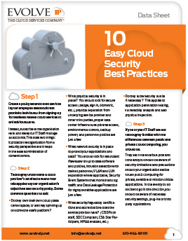 10 Easy Cloud Security Best Practices