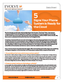 5 Signs Your Phone System is Ready for the Cloud