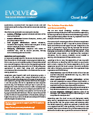 Achieving PCI Compliance with Evolve IP Cloud Compliance Cloud Page 2