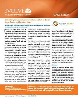 Case Study Marshberry Evolve IP