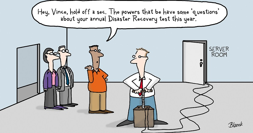 Evolve IP Disaster Recovery Comic - Blazek