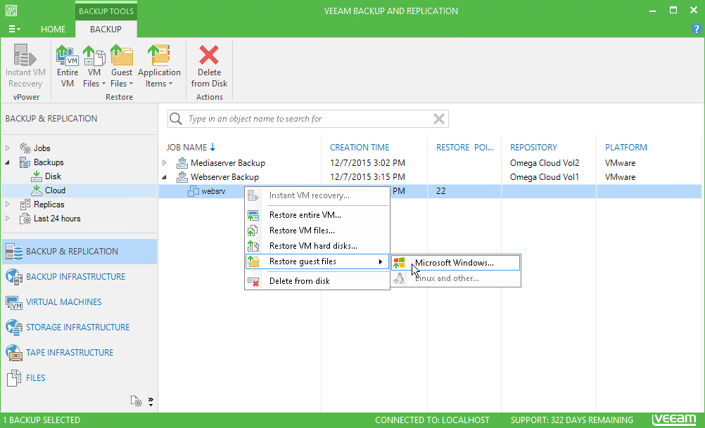 Veeam Self-Service Portal