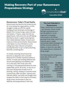 ransomware prep strategy